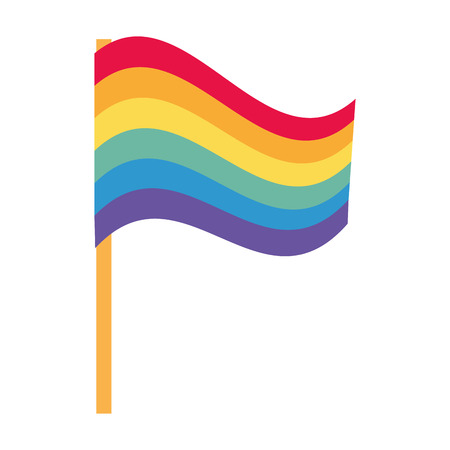 flag colors rainbow lgbt pride love vector illustration Ilustração