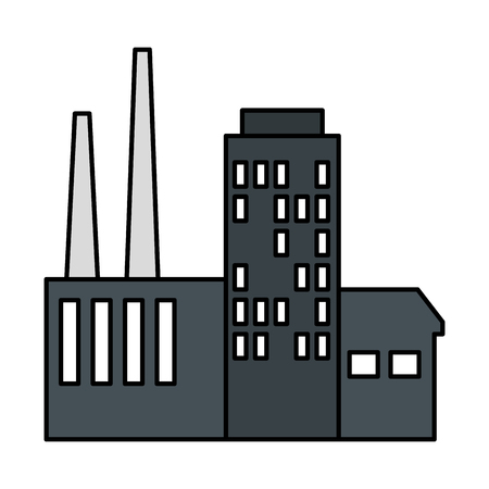 building factory scene icon vector illustration design