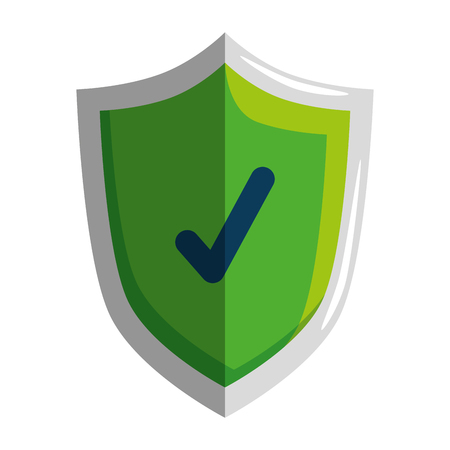 shield with check symbol vector illustration design