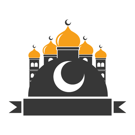 taj mahal half moon islamic vector illustration design Banque d'images - 121388890