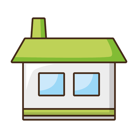 house home icon on white background vector illustration Banco de Imagens - 123095130