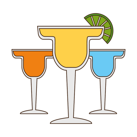 cocktails drink liquor slice lime vector illustration Stock fotó - 121404321