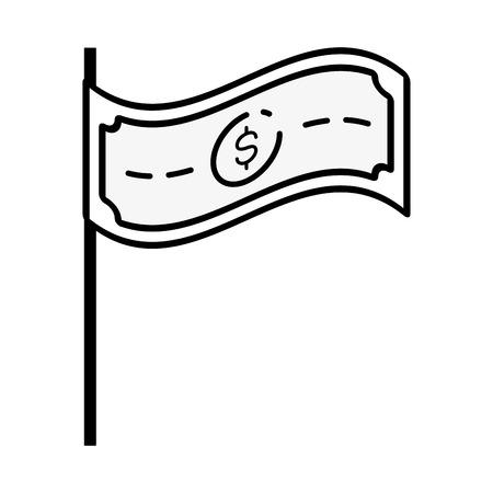 banknote money sitck icon vector illustration design