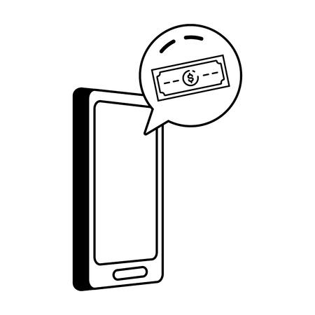 mobile banknote app online banking vector illustration Foto de archivo - 123095180