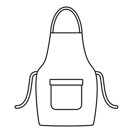 apron tool cleaning on white background vector illustration