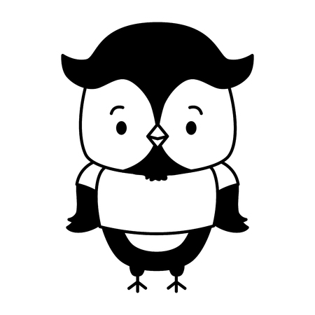 cute owl animal cartoon vector illustration design image