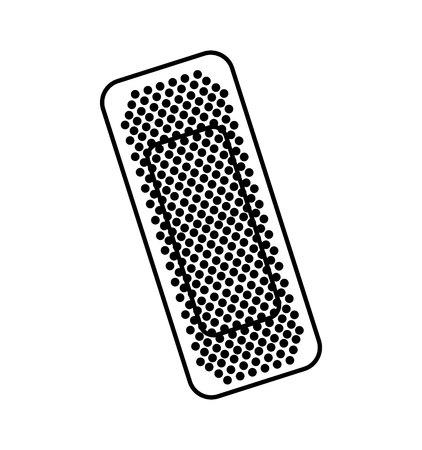 bandaż medyczny izolowany ikona wektor ilustracja projekt Ilustracje wektorowe