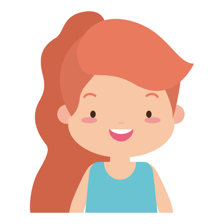 cute girl smiling on white background vector illustration design