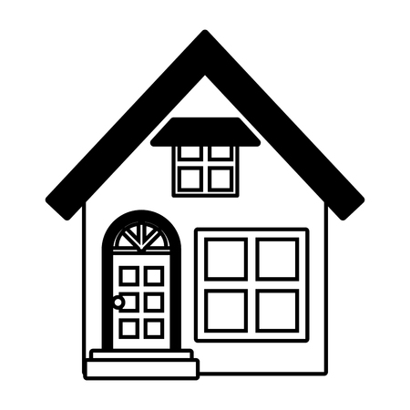 house facade exterior on white background vector illustration design vector illustration design Illusztráció