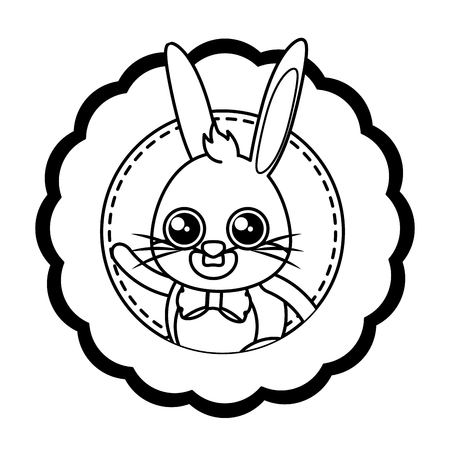 beautiful rabbit easter character vector illustration design 向量圖像