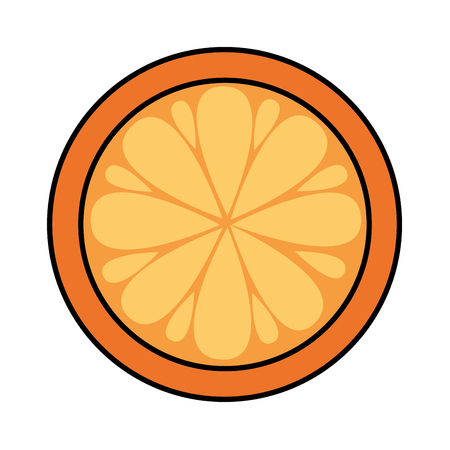orange fresh fruit on white background vector illustration Stok Fotoğraf - 123097056
