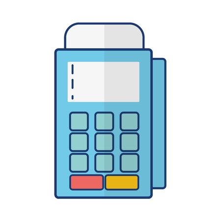 pos terminal online banking vector illustration design