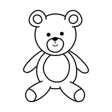 cute bear teddy icon vector illustration design