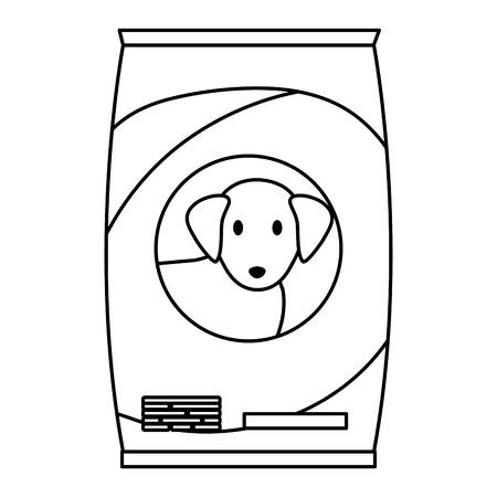 dog food bag icon vector illustration design