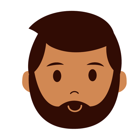 bearded man character on white background vector illustration Stock Vector - 123055909