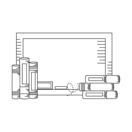Tablero de libros útiles escolares, diseño de ilustraciones vectoriales Ilustración de vector
