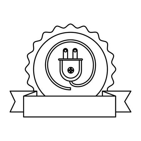 energy plug ecology icon vector illustration design Illustration