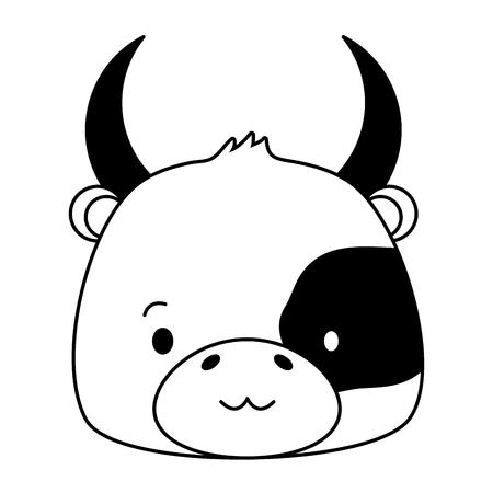 cute bull animal cartoon vector illustration design image 版權商用圖片 - 123055985