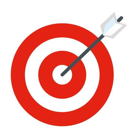 ontwerp van de het doel vectorillustratie van het doel het pijl geïsoleerde pictogram