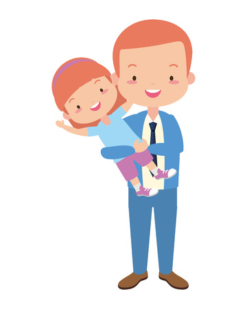 dad and daughter - fathers day vector illustration design Stock Vector - 121419702
