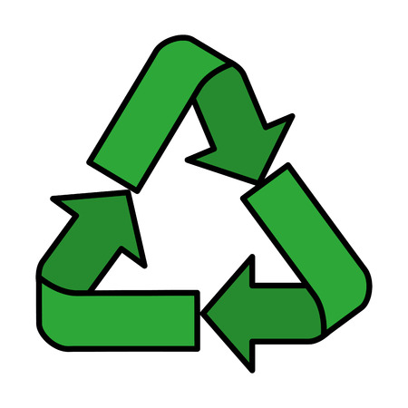 recycle arrows symbol icon vector illustration design  イラスト・ベクター素材