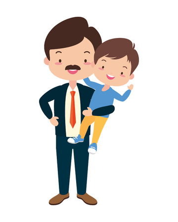dad and son - fathers day vector illustration design 向量圖像