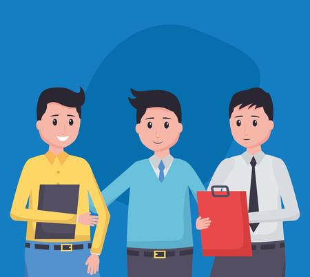 team people employee office vector illustration design 向量圖像