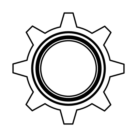gear settings isolated icon vector illustration design