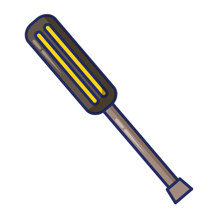 screwdriver construction tool vector illustration design image
