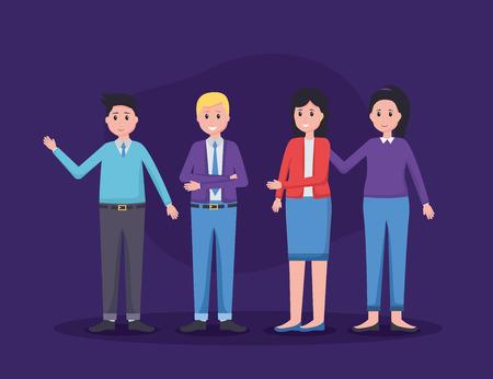 team people employee office vector illustration design 版權商用圖片 - 123056218