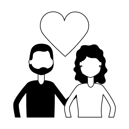 couple relation romantic love hearts vector illustration 版權商用圖片 - 123056395