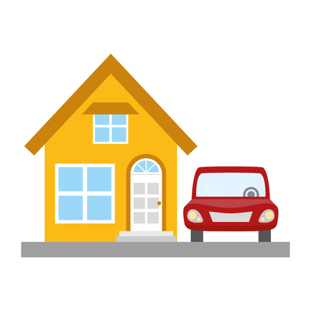 house property with car vector illustration design Stockfoto - 123056539