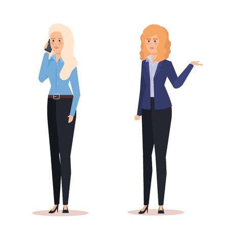 professional businesswomen to executive company success vector illustration