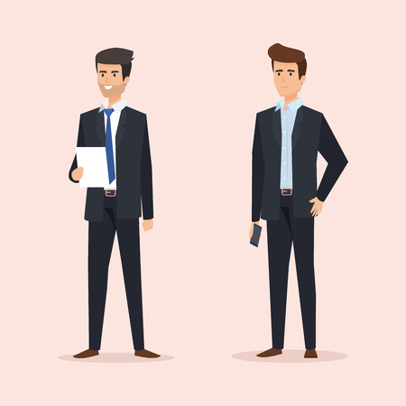 executive businessmen to professional and success company vector illustration