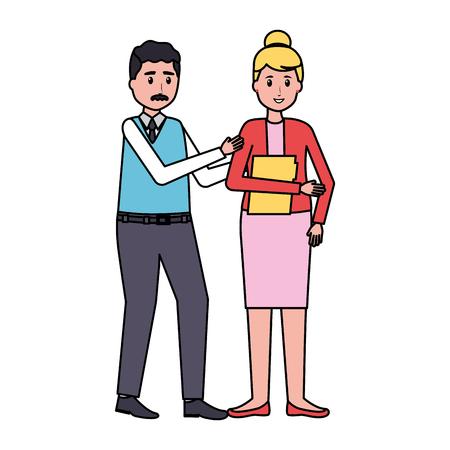 man and woman team office vector illustration 版權商用圖片 - 123057794