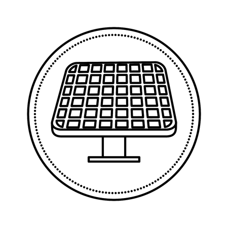 Diseño de ilustración de vector de ecología de energía de panel solar Ilustración de vector