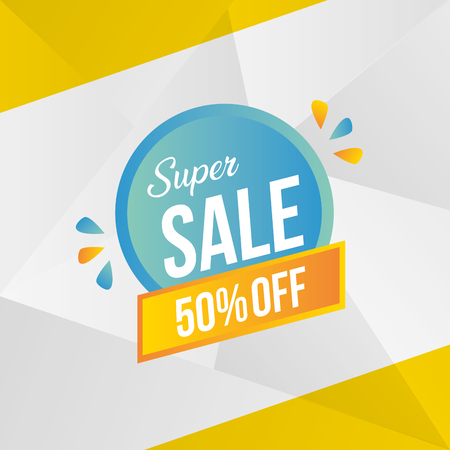 super sale off banner special vector illustration
