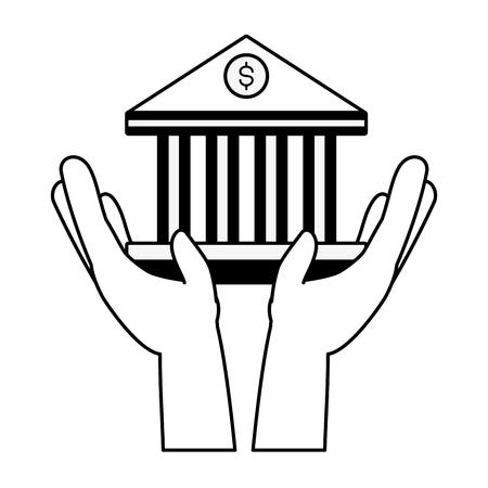 hands holding bank saving online banking vector illustration 向量圖像