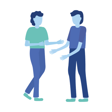 men gesturing hands characters vector illustration design Ilustração