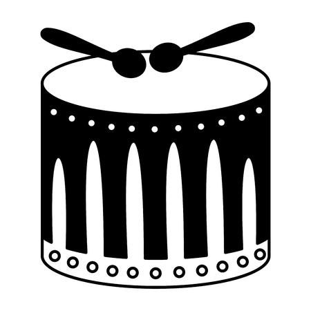 tamburo con bacchette musica illustrazione vettoriale design