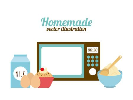 homemade food design, vector illustration eps10 graphic