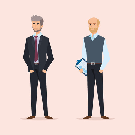 professional businessmen to executive company success vector illustration