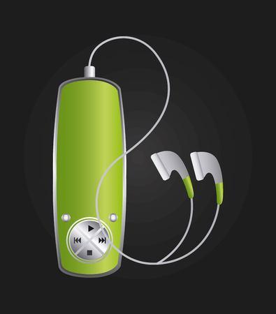 mp3 music player design, vector illustration eps10 graphic Vector Illustration