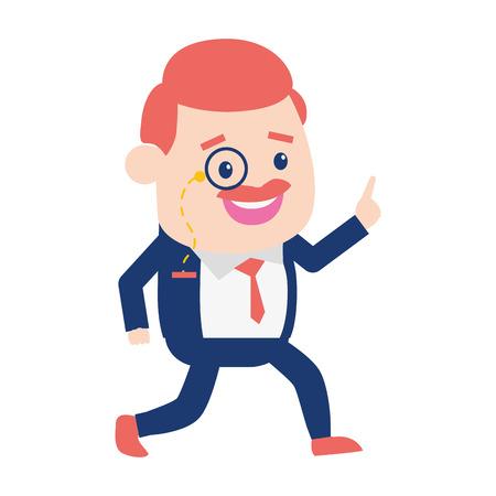 business man avatar on white background vector illustration