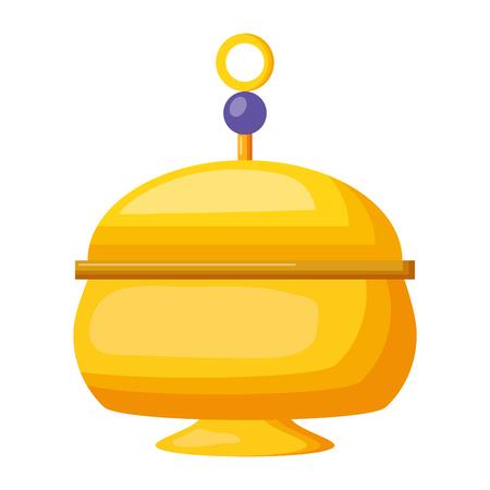 container ornament decoration icon vector illustration design