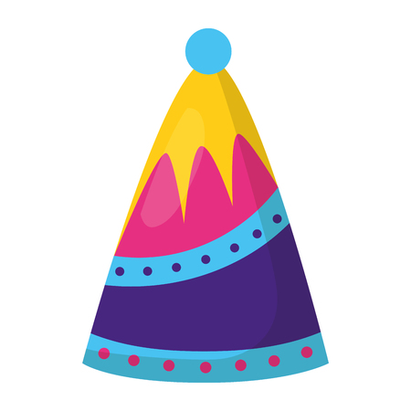 party hat decoration on white background vector illustration 向量圖像