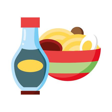soup sauce bottle fast food white background vector illustration Standard-Bild - 123058304