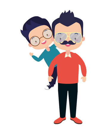 dad and son - fathers day vector illustration design 版權商用圖片 - 123058330