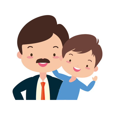 dad and son - fathers day vector illustration design  イラスト・ベクター素材