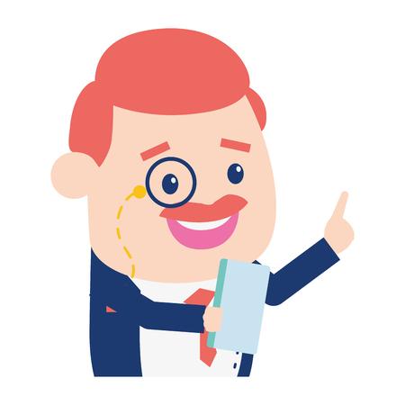 businessman mobile on white background vector illustration